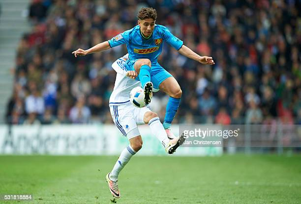 Emre Mor of FC Nordsjalland compete for the ball during the Danish Alka Superliga match between FC Copenhagen and FC Nordsjalland at Telia Parken...