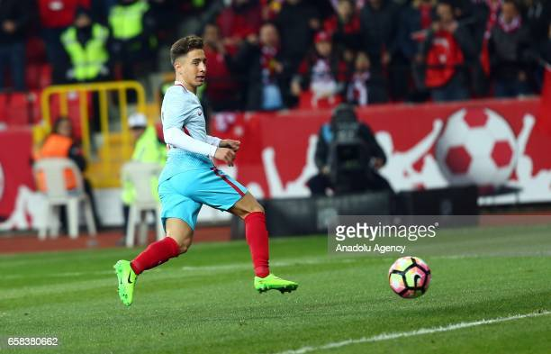 Emre Mor of Turkey in action during a friendly football match between Turkey and Moldova at Yeni Eskisehir Stadium in Eskisehir Turkey on March 27...