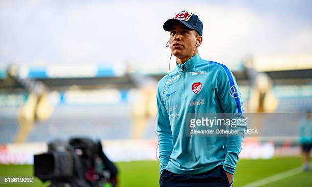 Emre Mor of Turkey is seen prior the FIFA 2018 World Cup Qualifier between Iceland and Turkey at Laugardalsvoellur on October 9 2016 in Reykjavik...