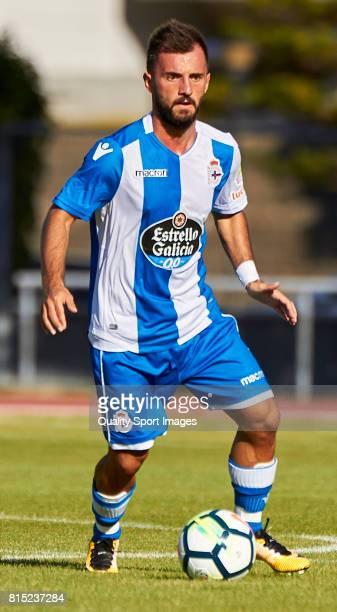 Emre Çolak of Deportivo de La Coruna in action during the preseason friendly match between Club Silva SD and Deportivo de La Coruna at Estadio...