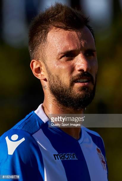 Emre Çolak of Deportivo de La Coruna looks on during the preseason friendly match between Club Silva SD and Deportivo de La Coruna at Estadio...