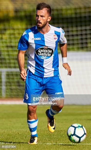 Emre Çolak of Deportivo de La Coruna runs with the ball during the preseason friendly match between Club Silva SD and Deportivo de La Coruna at...