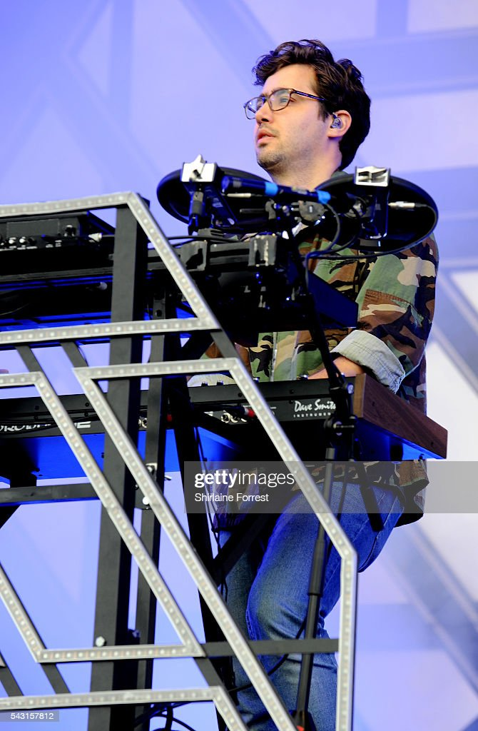 Emre Turkmen of Years and Years performs on The Other Stage at Glastonbury Festival 2016 at Worthy Farm, Pilton on June 25, 2016 in Glastonbury, England.