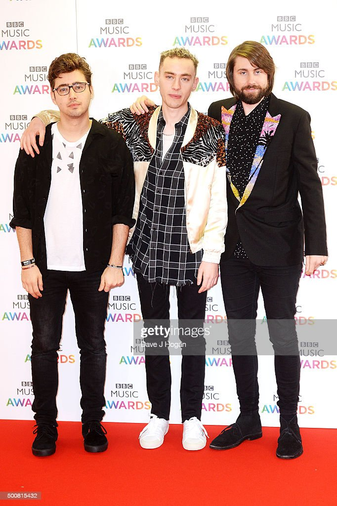 Emre Turkmen, Olly Alexander and Mikey Goldsworthy of Years & Years attend the BBC Music Awards at Genting Arena on December 10, 2015 in Birmingham, England.