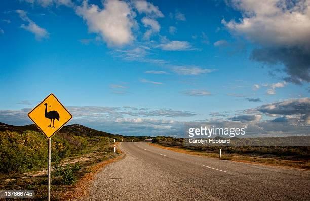 Emu road sign