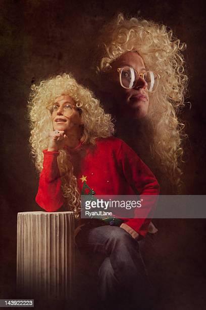 Émula Noël Vintage Portrait photo