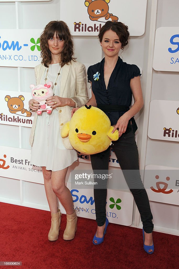 Emylia Clark and Marlane Barnes attend Rilakkuma & Space Hamsters at The Mark for Events on November 2, 2012 in Los Angeles, California.