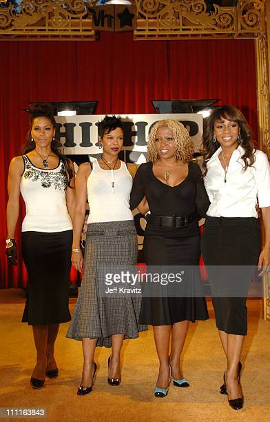 En Vogue during 2005 VH1 Hip Hop Honors Gold Carpet at Hammerstein Ballroom in New York City New York United States