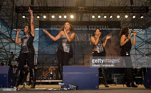 En Vogue perform at the 4th Annual Global Fusion Festival at Penn's Landing on July 17 2010 in Philadelphia Pennsylvania