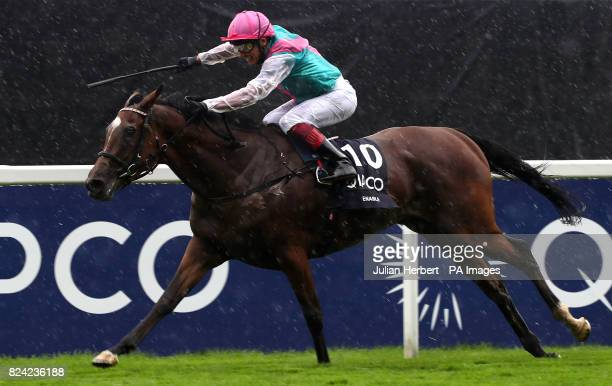 Enable ridden by Frankie Dettori wins The King George VI Queen Elizabeth Stakes run during day two of King George VI Weekend at Ascot Racecourse...