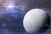 artist's impression of the water ice moon