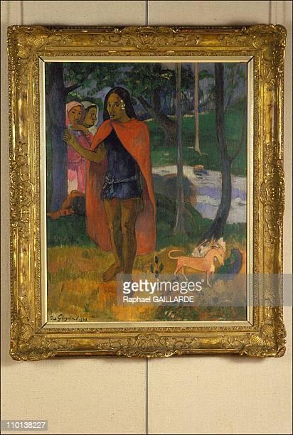 Enchanteur ou le sorcier de hiva Oa 1902' in exhibition of the works of Gauguin in Saint Germain en LayeFrance on November 7th1985
