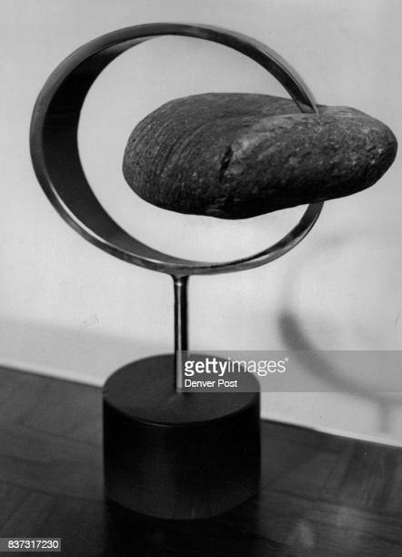 JUN 12 1969 JUN 17 1969 JUN 22 1969 'Encompassed III' is the title of this stone and steel sculpture by Thomas Hicks artist from Amarillo Tex His...