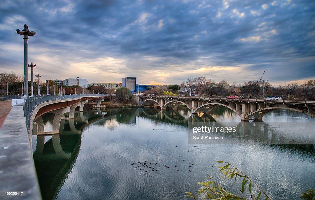 Encounter At Two Bridges : Stock Photo