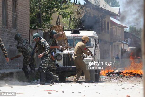 Encounter going on between security forces and militants at Arwani area of south Kashmir's Kulgam district some 50 kilometers from summer capital of...