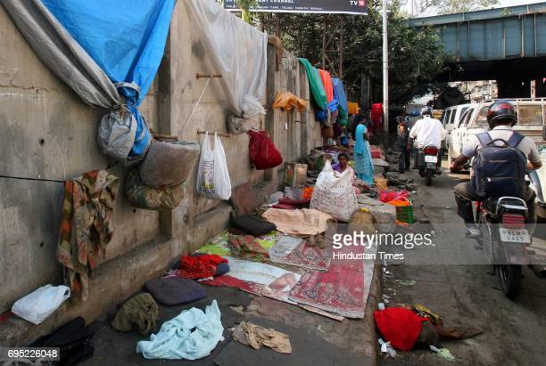 Encroachment on footpath on Tulsi Pipe Road Dadar West