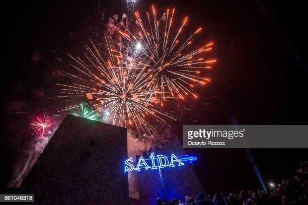 End of the party with fireworks on the Witches' Night on October 13 2017 in Montalegre Portugal Witches Night occurs whenever the 13th falls on a...