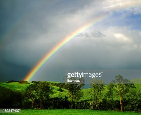 End of the rainbow : Stock Photo