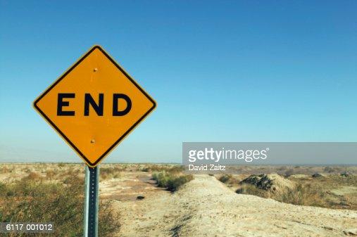 End' Sign in Deser