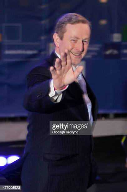 Enda Kenny Irish Prime Minister with the Fine Gael party arrives at the Summit meeting for the European People's Party Elections Congress 2014 at the...