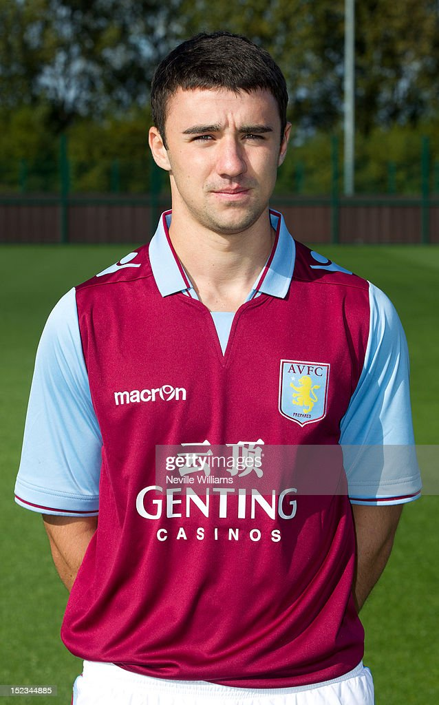 Enda Stevens of Aston Villa poses during the club's 2012/13 photo call at the club's training ground at Bodymoor Heath on September 18, 2012 in Birmingham, England.