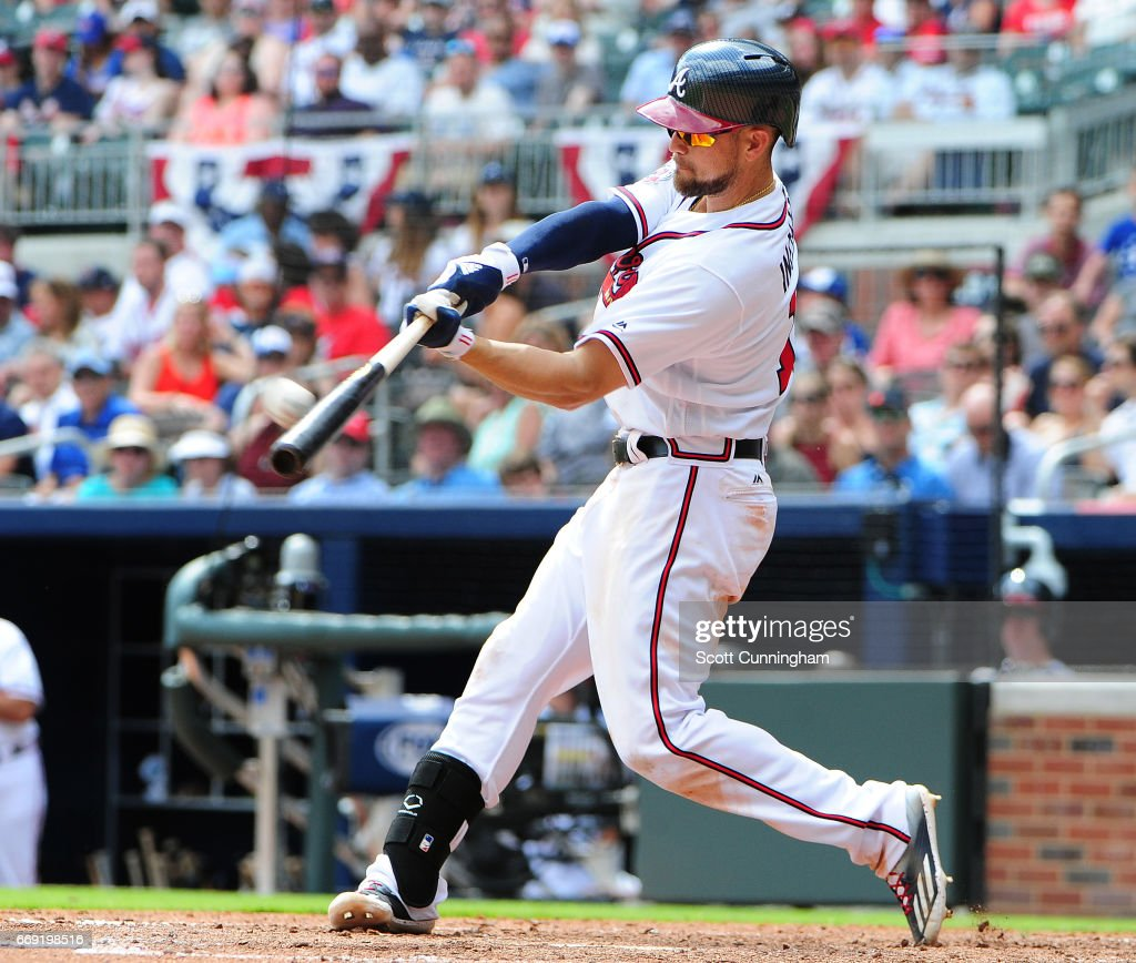 Ender Inciarte 11 Of The Atlanta Braves Hits A Seventh Inning Solo Home Run Against