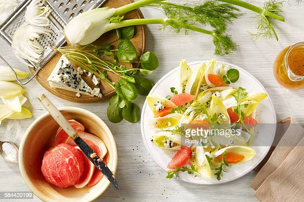 Endive grapefruit salad