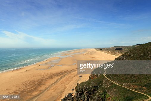 Endless beach in the French Normandy