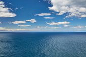 Endless sea and sky to the distant horizon