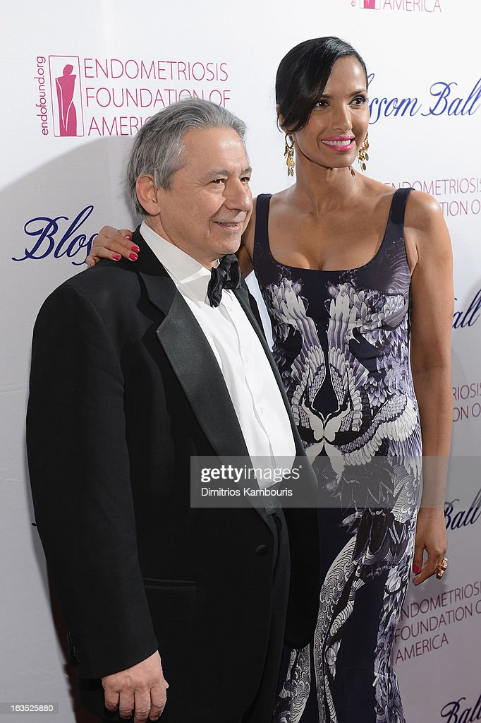 Endometriosis Foundation founder Tamer Seckin and TV Personality Padma Lakshmi attend The Endometriosis Foundation of America's Celebration of The 5th Annual Blossom Ball at Capitale on March 11, 2013 in New York City.