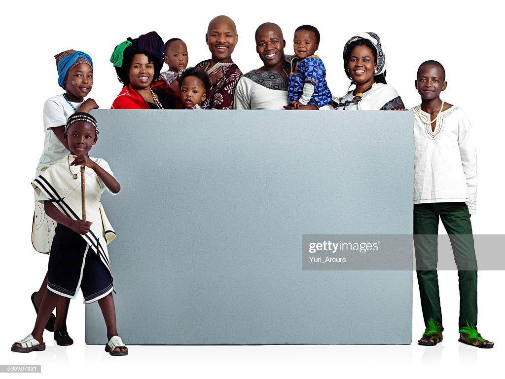 WE endorse family : Stock Photo