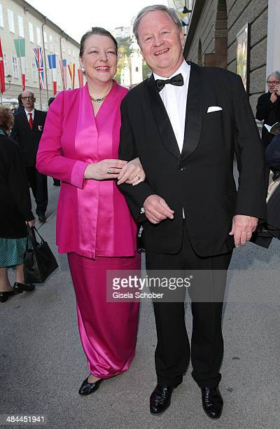 Endre Esterhazy and his wife Christine attend the opening of the easter festival 2014 on April 12 2014 in Salzburg Austria