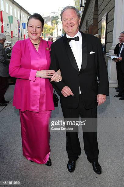 Endre Esterhazy and his wife Christine Esterhazy attend the opening of the easter festival 2014 on April 12 2014 in Salzburg Austria