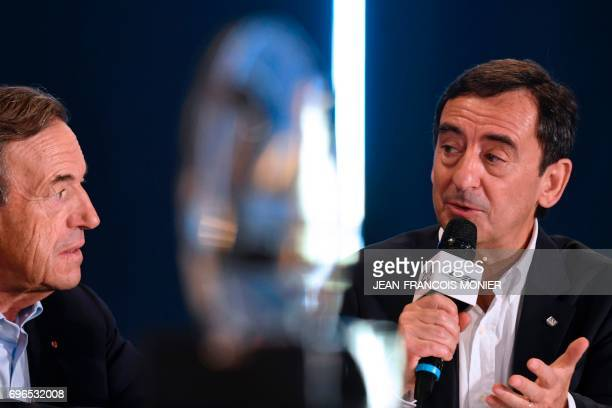 FIA Endurance Committee President Lindsay OwenJones listens to the President of the Automobile Club de lOuest Pierre Fillon in charge of the...