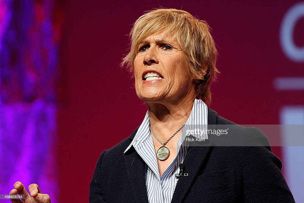 Endurance Swimmer Journalist and Author Diana Nyad speaks on stage during the 2014 Texas Conference For Women at Austin Convention Center on November...