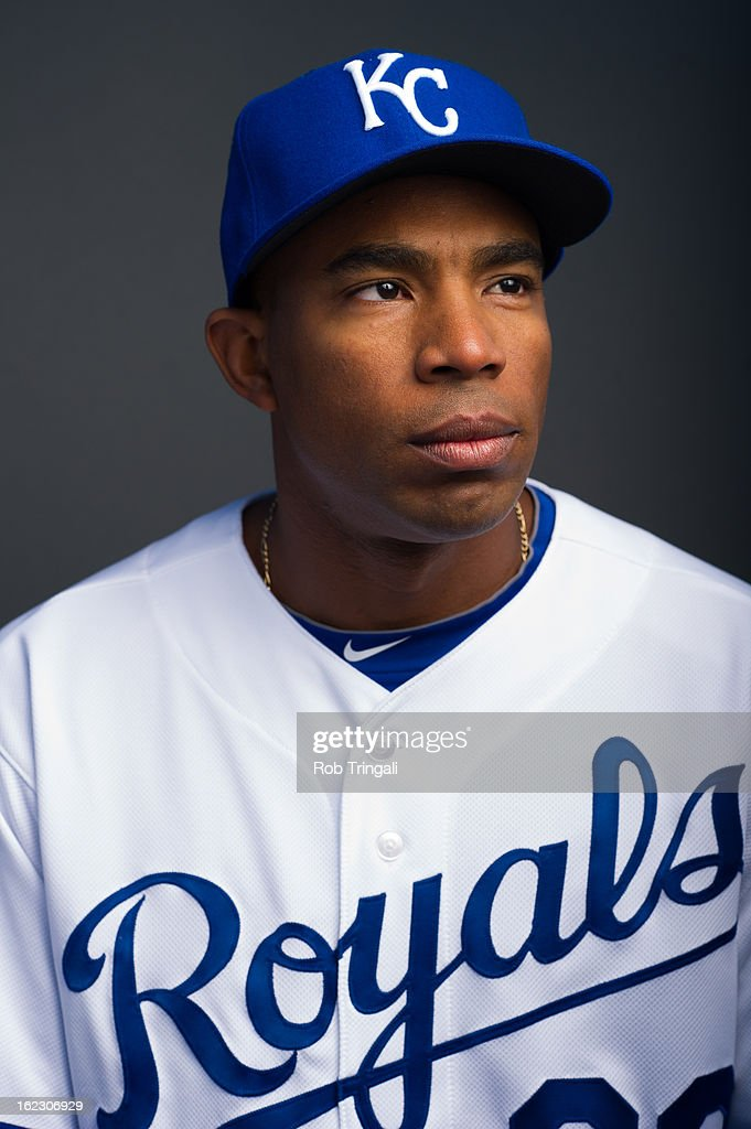 <a gi-track='captionPersonalityLinkClicked' href=/galleries/search?phrase=Endy+Chavez&family=editorial&specificpeople=216624 ng-click='$event.stopPropagation()'>Endy Chavez</a> #32 of the Kansas City Royals poses for a portrait on photo day at the Surprise Sports Complex on February 21, 2013 in Surprise, Arizona.