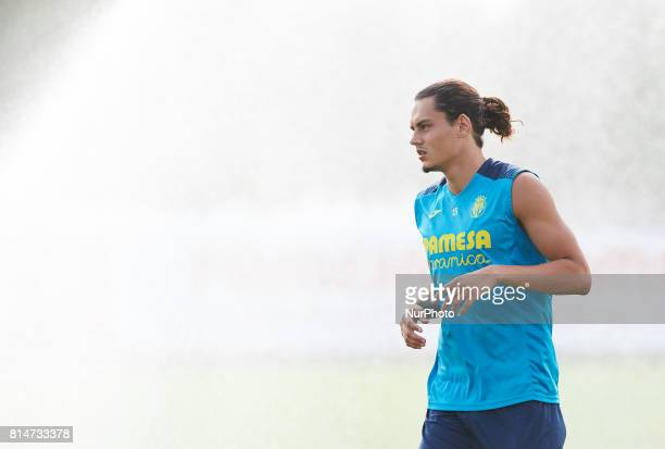 Enel Unal during the first week of Villarreal CF training session at Ciudad Deportiva of Miralcamp July 14 in Vilareal Spain