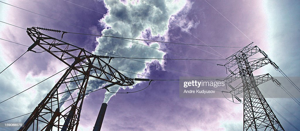 Energy and emissions : Stock Photo