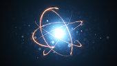 Energy atom close up