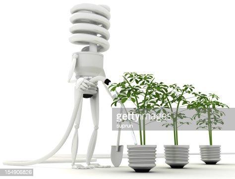 エネルギー効率の良い電球エコ : ストックフォト