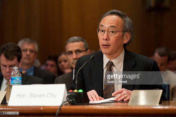 Energy Secretary Steven Chu during the Senate Appropriations Subcommittee on Energy and Water Development Subcommittee hearing on proposed fiscal...