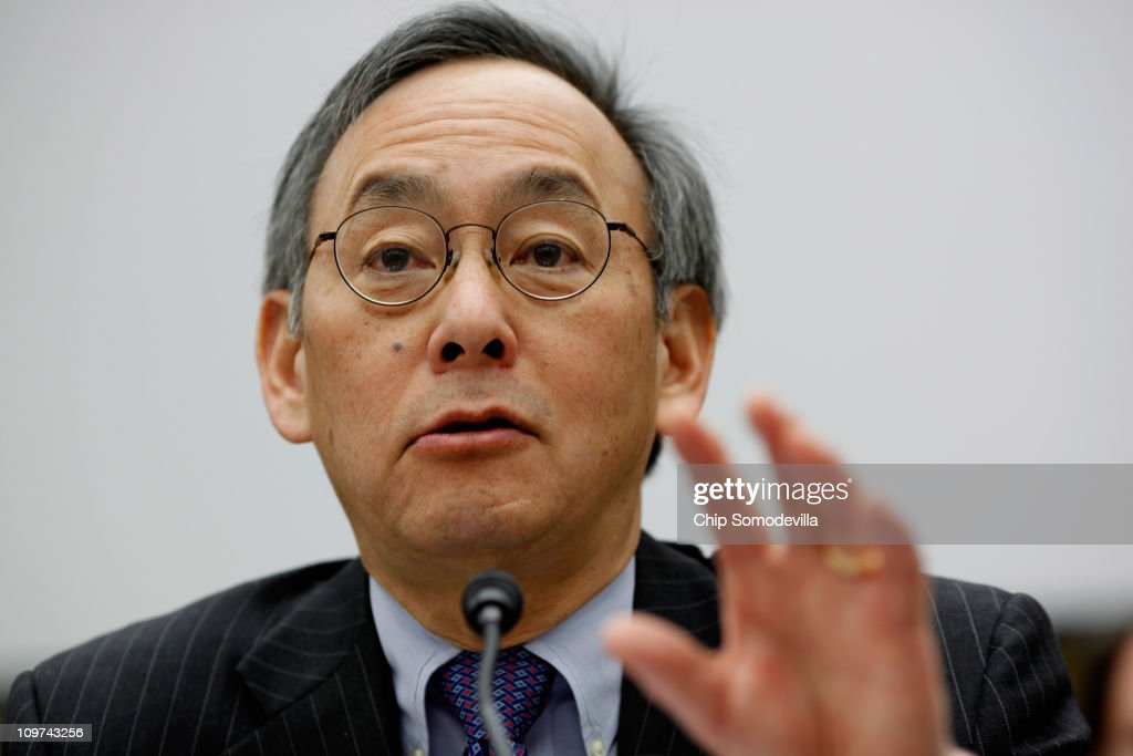 Energy Secretary <a gi-track='captionPersonalityLinkClicked' href=/galleries/search?phrase=Steven+Chu&family=editorial&specificpeople=2732289 ng-click='$event.stopPropagation()'>Steven Chu</a> testifies before the House Science, Space, and Technology Committee on Capitol Hill March 3, 2011 in Washington, DC. Chu testified before the full committee on the Department of Energy FY2012 budget request for research and development.