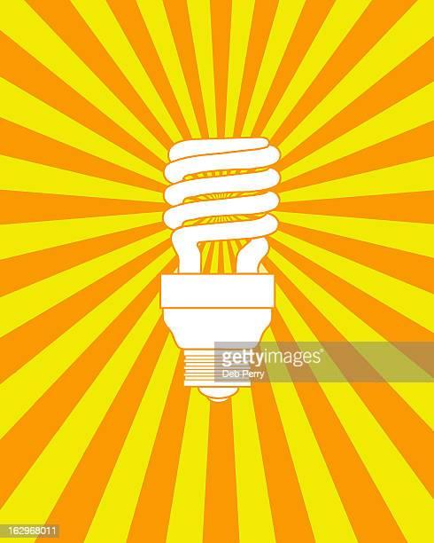 Energy-efficient light bulb (orange)