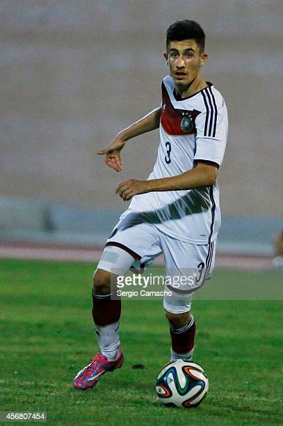Enes Akyol of Germany during the international friendly match between U17 Spain and U17 Germany at Campo Municipal de Nerja on October 7 2014 in...