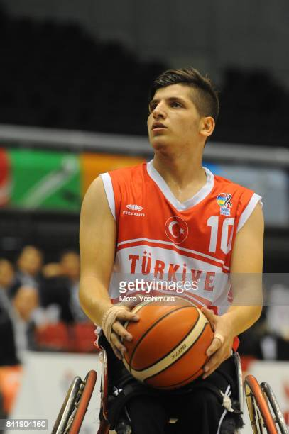 Enes Bulut of Turkey in action during the Wheelchair Basketball World Challenge Cup match between Japan and Turkey at the Tokyo Metropolitan...