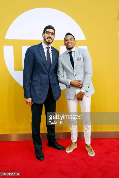 Enes Kanter and Andre Roberson attend the 2017 NBA Awards at Basketball City Pier 36 South Street on June 26 2017 in New York City