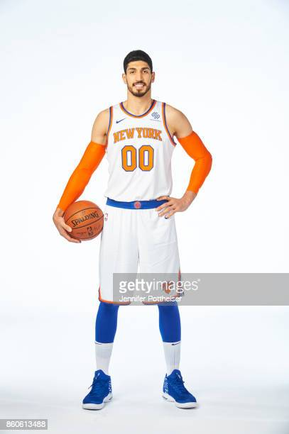 Enes Kanter of the New York Knicks poses for a portrait at the Knicks Practice Center on October 11 2017 in Tarrytown New York NOTE TO USER User...