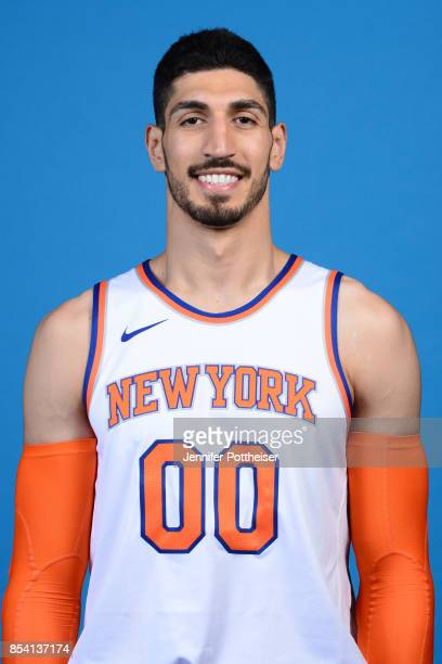 Enes Kanter of the New York Knicks poses for a portrait during 2017 Media Day on September 25 2017 at the New York Knicks Practice Facility in...
