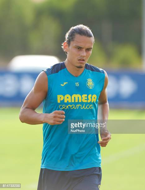 Enes Unal during the first week of Villarreal CF training session at Ciudad Deportiva of Miralcamp July 14 in Vilareal Spain