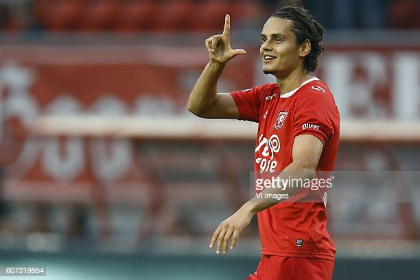Enes Unal of FC Twente scored during the Dutch Eredivisie match between FC Twente and ADO Den Haag at the Grolsch Veste on September 17 2016 in...